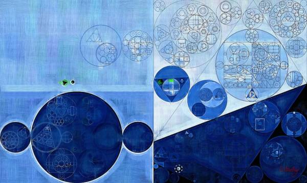 Wall Art - Digital Art - Abstract Painting - Sapphire by Vitaliy Gladkiy