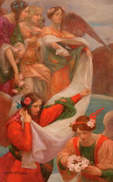 Gabriel Painting - Angels Descending by Rupert Bunny