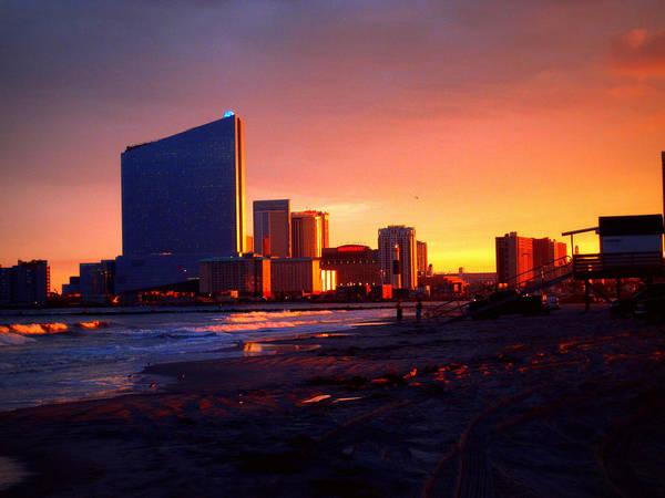 Jetti Wall Art - Photograph - Atlantic City Sunset by Mary McCusker