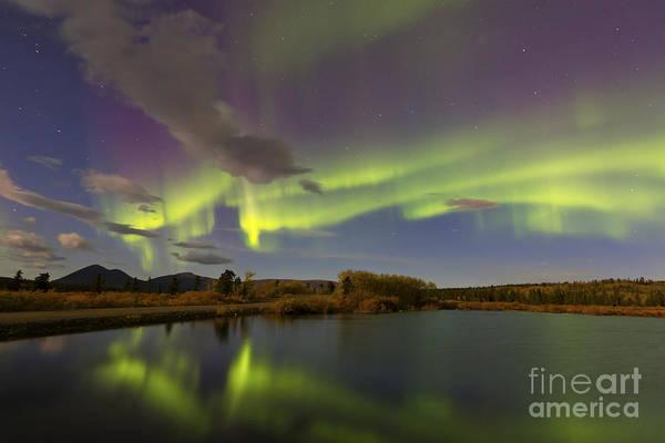 Photograph - Aurora Borealis With Moonlight At Fish by Joseph Bradley
