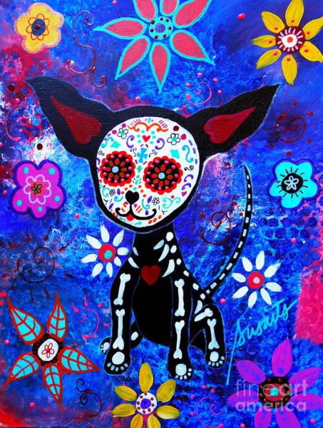 Painting - Chihuahua Dia De Los Muertos by Pristine Cartera Turkus