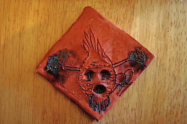 Ceramic Art - Crazy Pineapple - Tile by Gloria Ssali