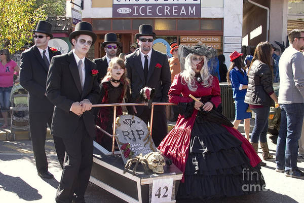 Photograph - Team #42 At Emma Crawford Coffin Races In Manitou Springs Colorado by Steve Krull