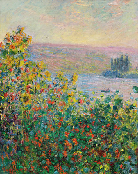 Vetheuil Wall Art - Painting - Flower Beds At Vetheuil by Claude Monet