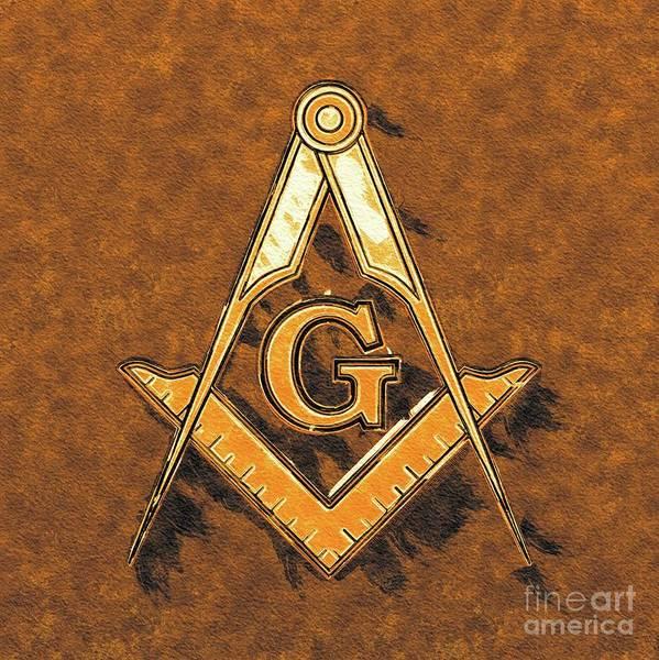 Esoteric Painting - Freemason, Mason, Masonic Symbolism by Pierre Blanchard