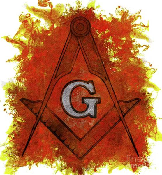 Wall Art - Painting - Freemason Symbolism by Pierre Blanchard