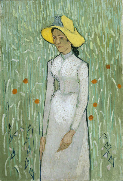 Arthropods Painting - Girl In White by Vincent Van Gogh