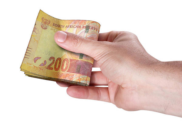 Wall Art - Digital Art - Hand Passing Wad Of Cash by Allan Swart