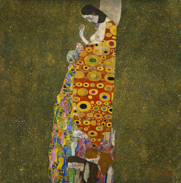 Wall Art - Painting - Hope II by Gustav Klimt