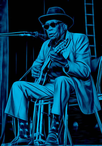 Wall Art - Mixed Media - John Lee Hooker Collection by Marvin Blaine