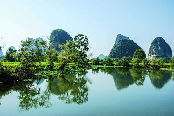 Photograph - Karst Rural Scenery by Carl Ning