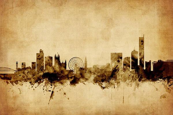 Greater Manchester Wall Art - Photograph - Manchester England Skyline by Michael Tompsett