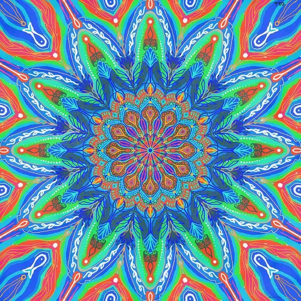 Wall Art - Painting - Mandala Flower by Sandrine Kespi