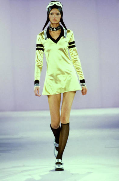 Runway Model Photograph - Model On A Runway For Anna Sui by Guy Marineau