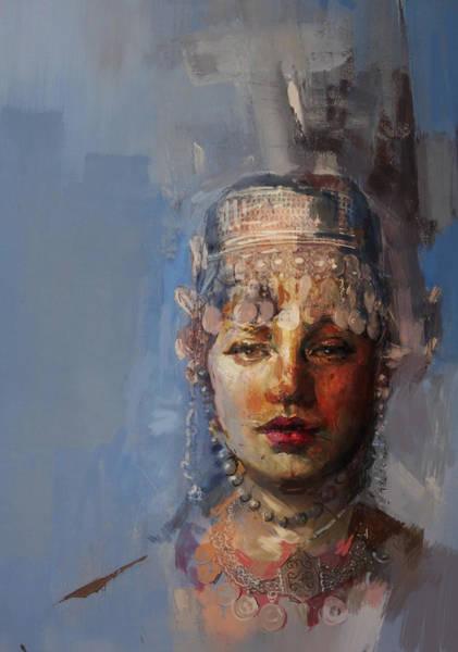 Ajrak Painting - 9 Pakistan Folk Khyber Pakhtunkhwa B by Mahnoor Shah