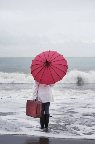 Wall Art - Photograph - Red Umbrella by Joana Kruse