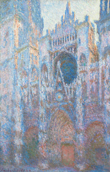 Facade Painting - Rouen Cathedral, West Facade by Claude Monet