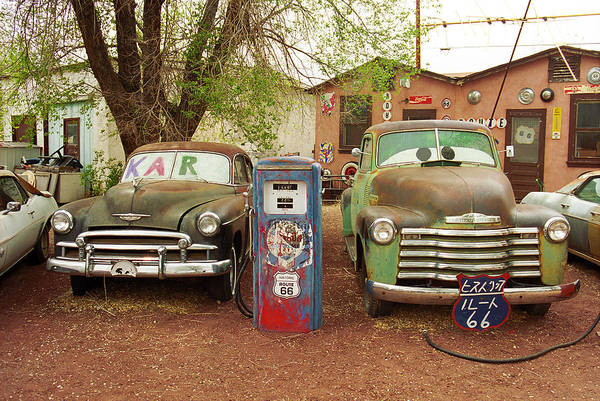 Photograph - Route 66 - Snow Cap Drive-in by Frank Romeo