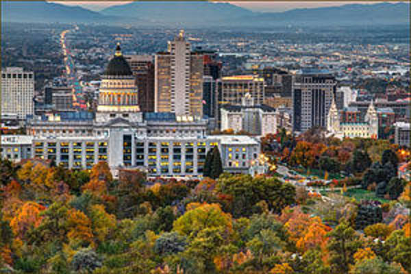 Wall Art - Photograph - Salt Lake City Utah Usa by Douglas Pulsipher