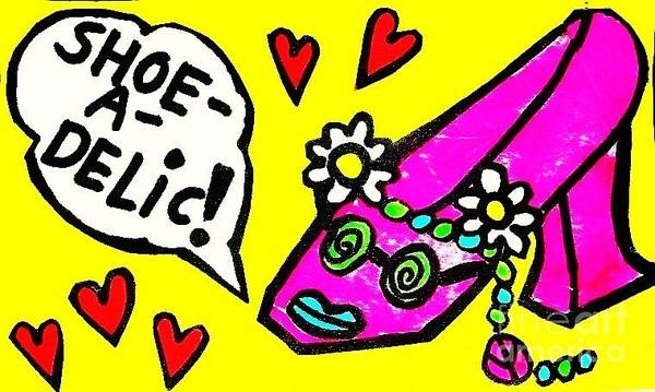 Painting - Shoe A-delic  by Sandra Silberzweig