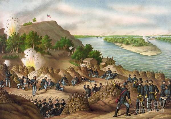 Mississippi River Drawing - Siege Of Vicksburg, 1863 by Granger