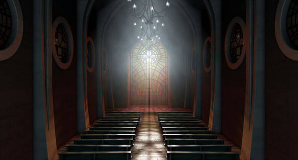 Wall Art - Digital Art - Stained Glass Window Church by Allan Swart