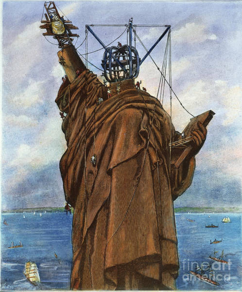 Photograph - Statue Of Liberty 1886 by Granger