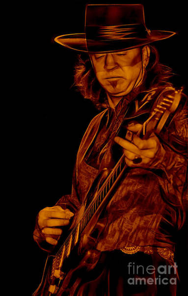 Wall Art - Mixed Media - Stevie Ray Vaughan Collection by Marvin Blaine