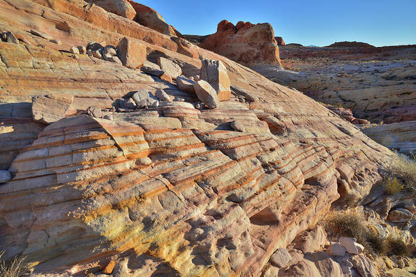 Photograph - Striped Sandstone In Valley Of Fire by Ray Mathis