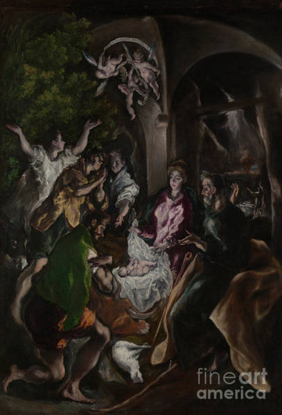 Wall Art - Painting - The Adoration Of The Shepherds by El Greco