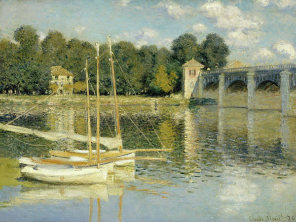 Wall Art - Painting - The Argenteuil Bridge by Claude Monet