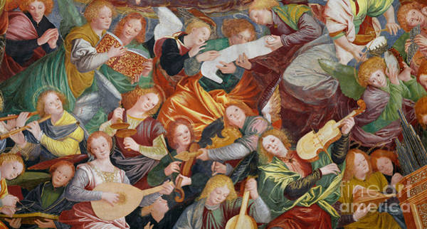 Musical Instrument Painting - The Concert Of Angels by Gaudenzio Ferrari