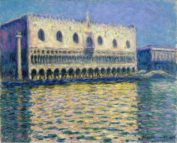 Style Painting - The Doge's Palace by Claude Monet