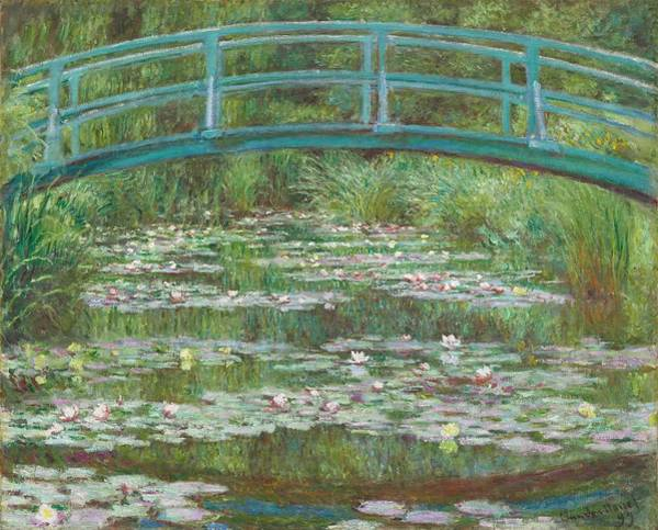 Lilly Pad Wall Art - Painting - The Japanese Footbridge by Claude Monet