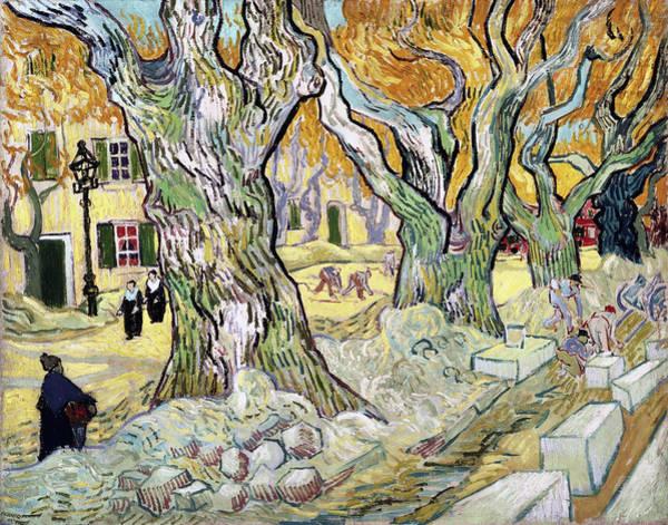 Painting - The Road Menders by Vincent van Gogh