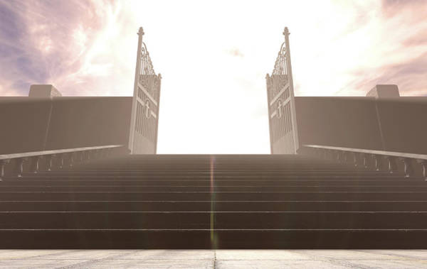 Wall Art - Digital Art - The Stairs To Heavens Gates by Allan Swart