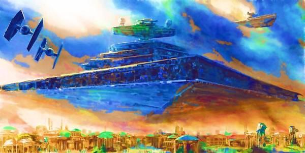 Star Wars Episode 3 Wall Art - Digital Art - The Star Wars Poster by Larry Jones