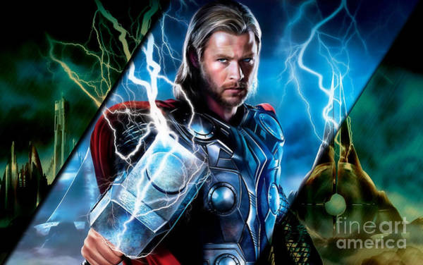 Super Hero Mixed Media - Thor Collection by Marvin Blaine