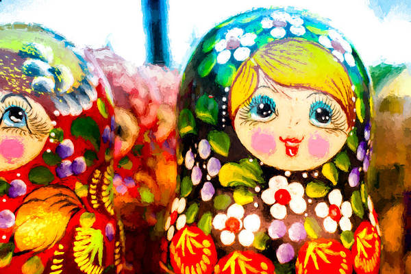 Photograph - Vibrant Russian Matrushka Doll by John Williams