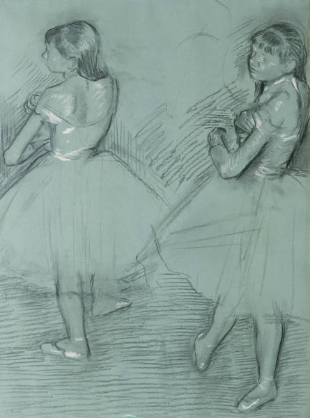 Drawing - Two Dancers by Edgar Degas
