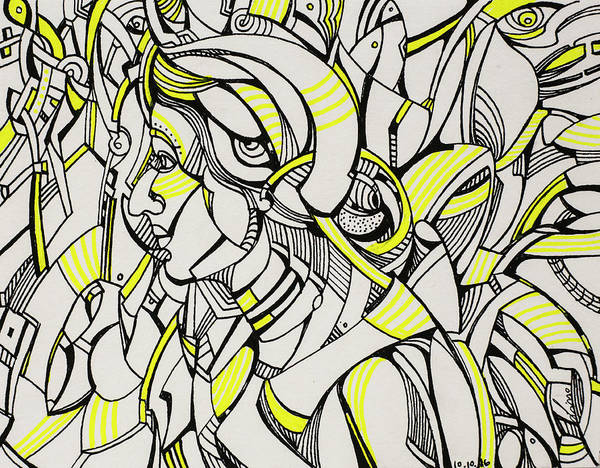 Drawing - Untitled 2016b008 by Lino Vicente