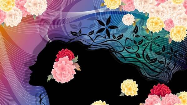 Flower Digital Art - Vector by Maye Loeser