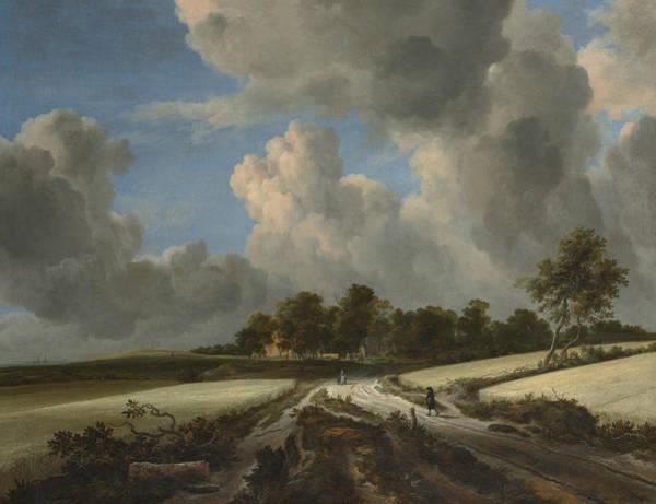 17th Century Wall Art - Painting - Wheat Fields by Jacob van Ruisdael