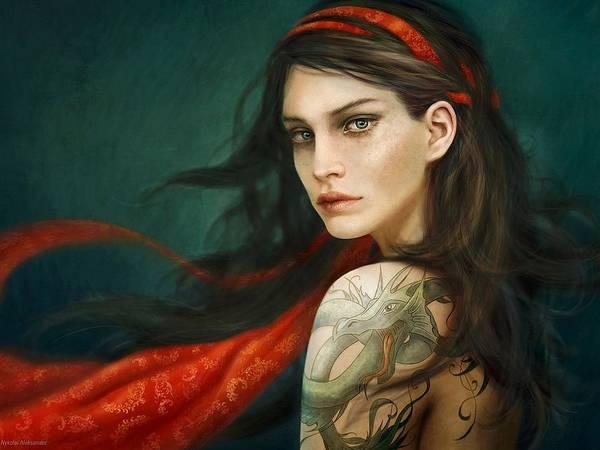 Portrait Digital Art - Women by Maye Loeser