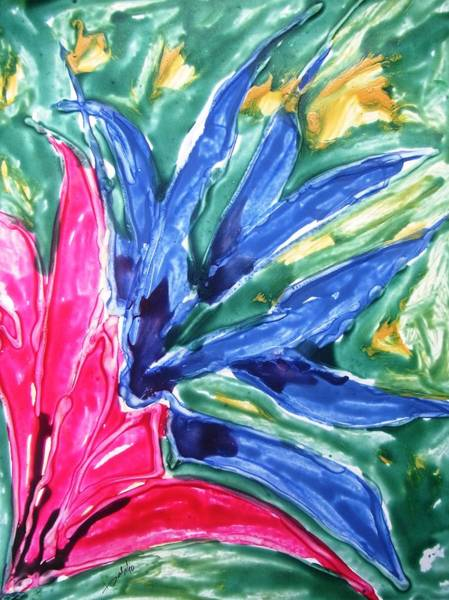 Wall Art - Painting - Divine Flowers by Baljit Chadha