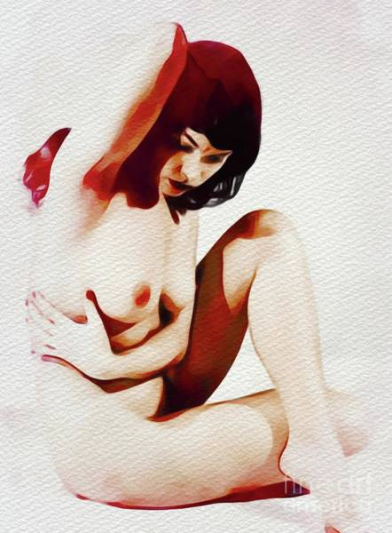 Boobs Wall Art - Painting - Vintage Pinup by Frank Falcon