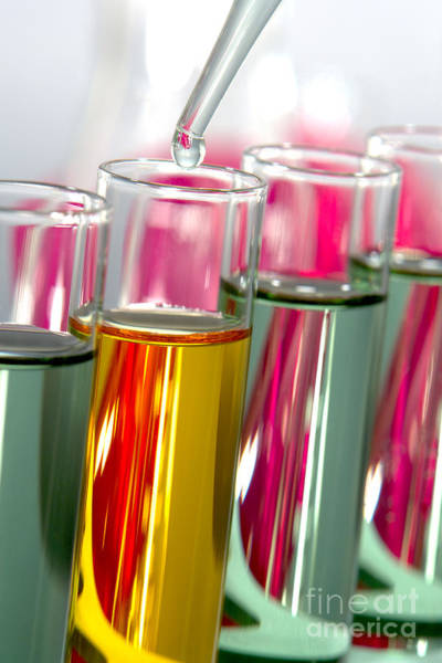 Wall Art - Photograph - Test Tubes In Science Research Lab by Olivier Le Queinec