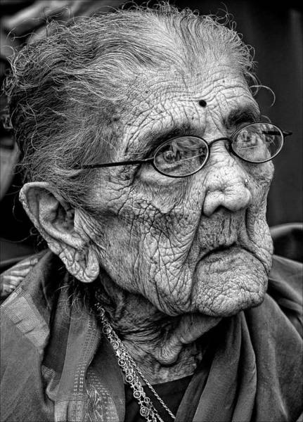 96 Year Old Indian Woman India Day Parade Nyc 2011 2 Art Print