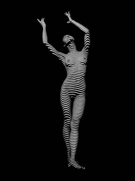 Photograph - 9686-dja Female Form Arms Up Black White Abstract Photograph By Chris Maher by Chris Maher