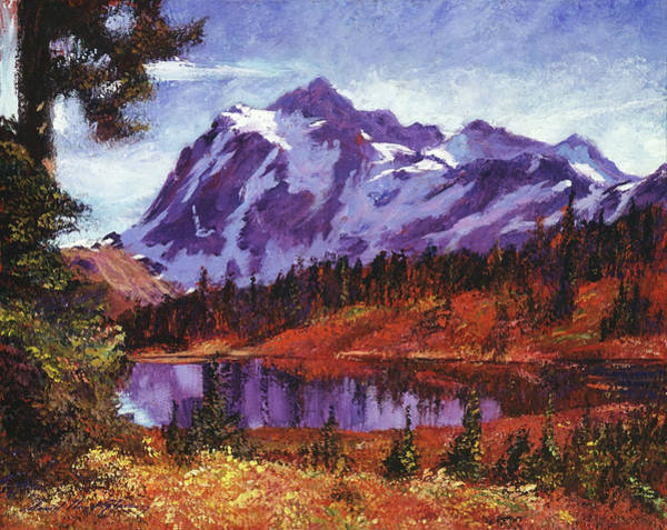 Mountain Lake Painting - Autumn Mountains Colors by David Lloyd Glover